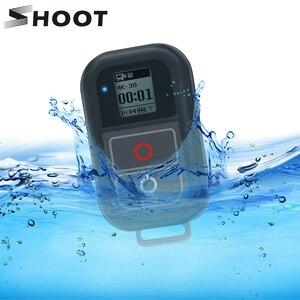 Image 1 - SHOOT جهاز تحكم عن بعد WiFi لكاميرا GoPro ، حامل جهاز تحكم عن بعد لـ GoPro 8 7 6 5 ، مقاوم للماء ، أسود ، ملحقات