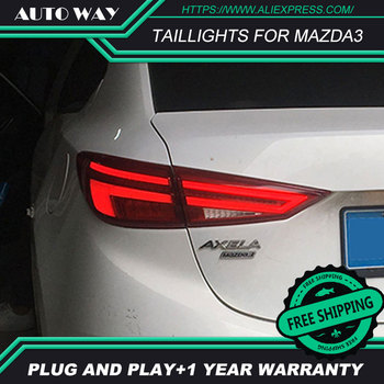 Car Styling case for Mazda3 Axela taillights 2014-2017 Design LED Mazda 3 M3 taillight TAIL Lights All LED Rear Lamp