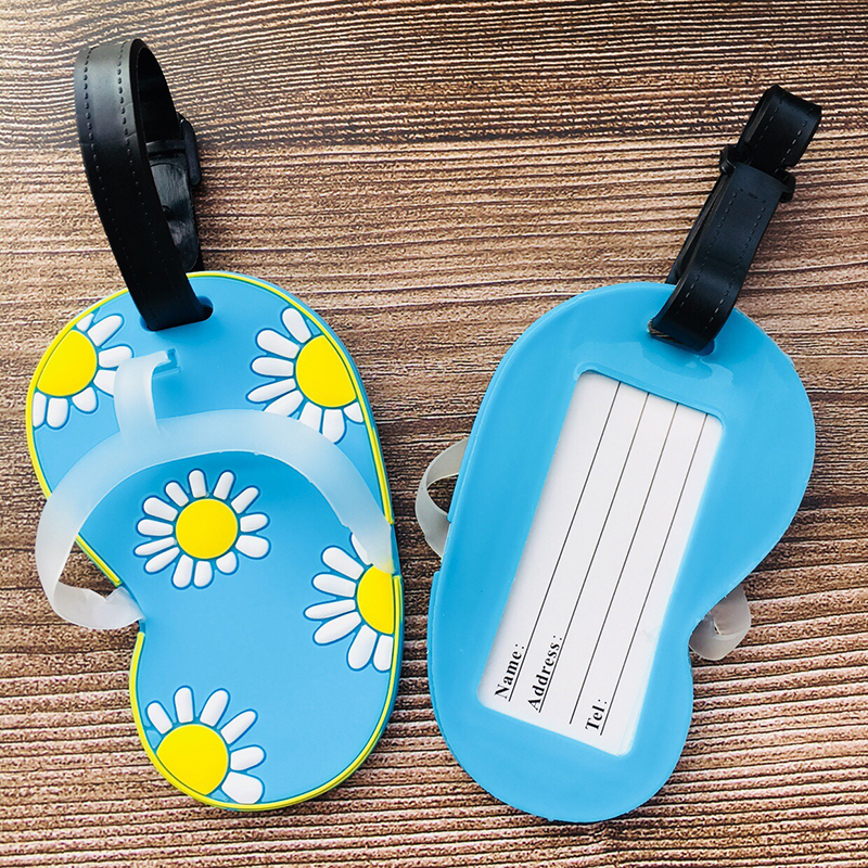 Shoes Anime Travel Accessories Luggage Tag Suitcase ID Portable Tags Holder Baggage Labels Gifts New