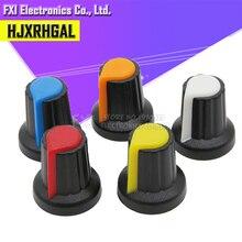 Botão potenciômetro wha2, 30 peças, amarelo, laranja, azul, branco, vermelho, 15x17mm ag2 botão