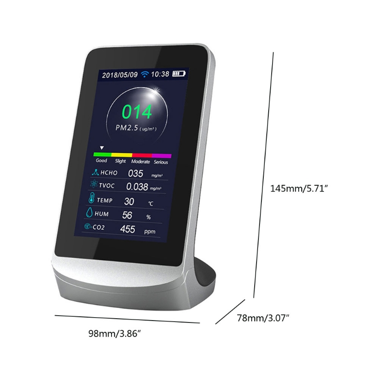 Generous Dm72b Wifi Multi-function Air Quality Monitor Wifi Connect To Phone Analyzer N58c New Varieties Are Introduced One After Another