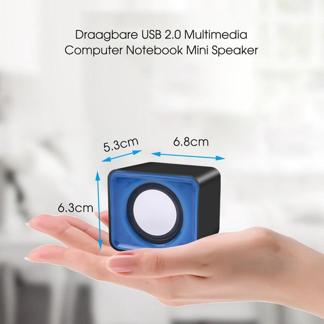 kebidu Universal USB 2.0 Music Speaker Mini Music Stereo Speakers 3.5mm Pulg For Multimedia Desktop Computer Notebook 3