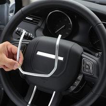 Für Land Rover Range Rover Evoque 2012-2019 ABS Chrom Lenkrad Dekorative Streifen Abdeckung Trim Aufkleber Auto Zubehör