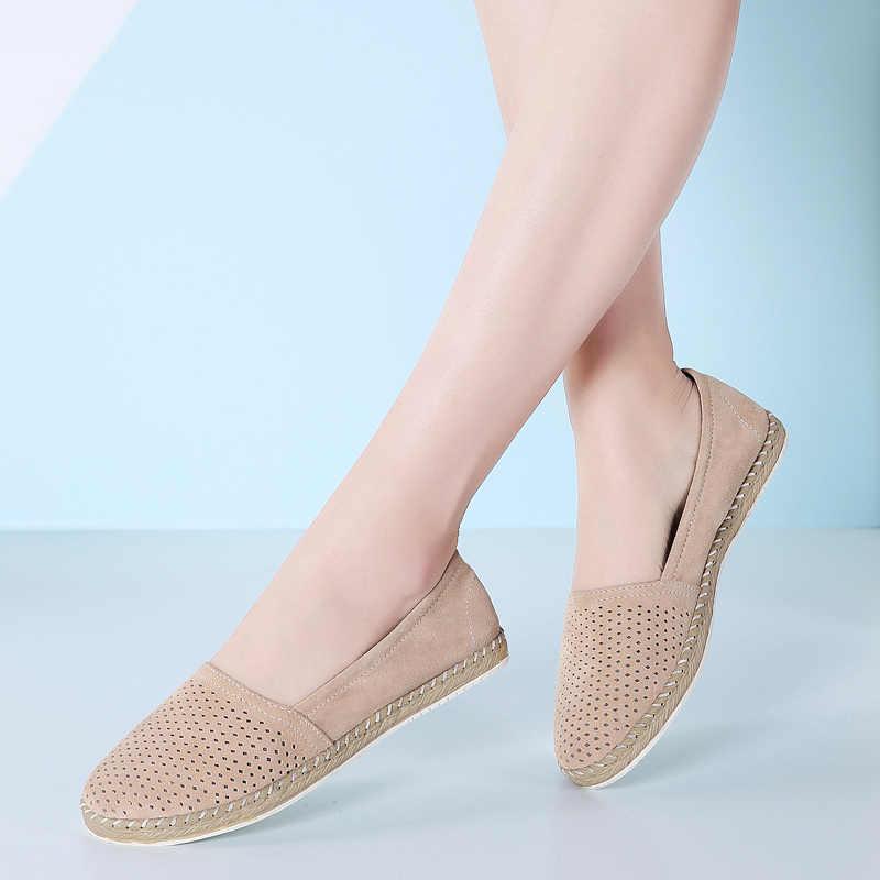 Giày Loafer Nữ Giày Nữ Người Phụ Nữ cho Chân Trên Phẳng Nữ Da Thời Trang Nền Tảng Shose 2019 Cao Cấp Nhà Thiết Kế Nữ Đế Bằng Nữ