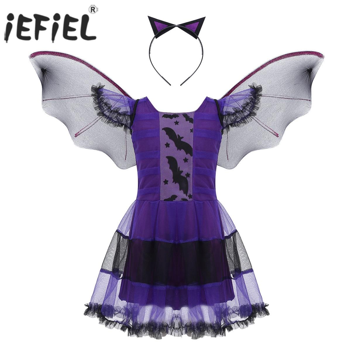 Black Bat Wing Ears On A Headband Faux Fur Bat Fancy Dress Halloween Costume