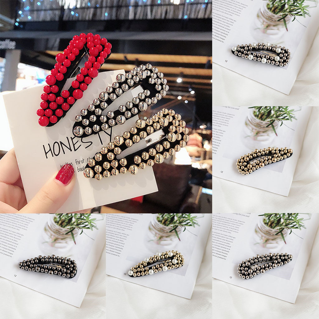 1pc Fashion Pearl Imitation Beads Hair Clip For Women Barrette Handmade Pearl Flower Stick Hairpin Hair Styling Accessories