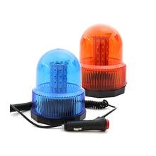 Amber Blue Car Vehicle Magnetic Mounted Police DC12V 40 LED Strobe Rotating Flashing Warning Light Beacon Flash Emergency Lights