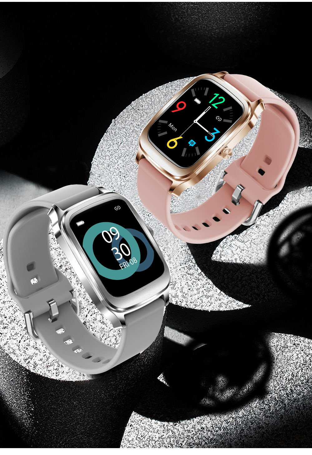 Nova moda confortável haylou h68 relógio inteligente,
