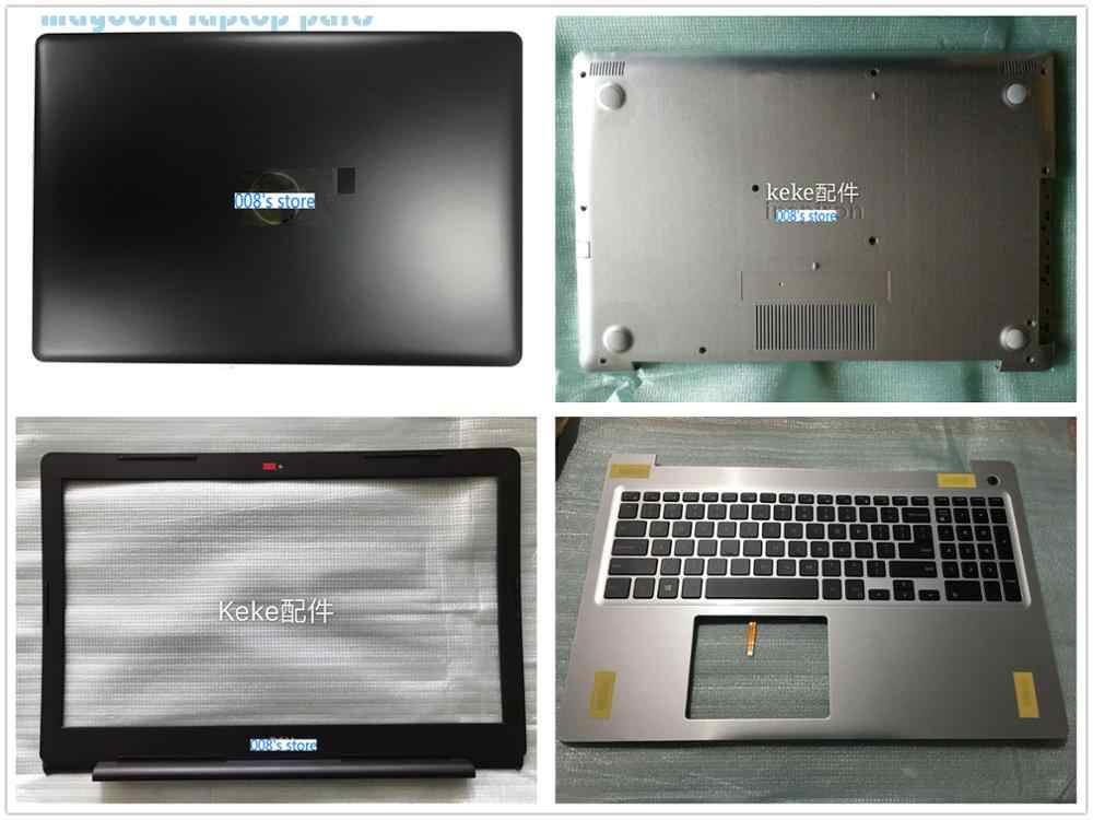 Nouveau boîtier pour DELL inspiron 15 5570 5575 LCD couvercle arrière supérieur/lunette/repose-main supérieur/bas inférieur/câble d'écran/bouton d'alimentation/prise jack