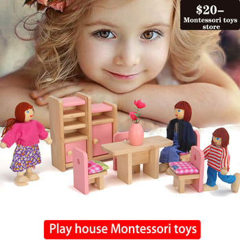 Play house toys pink small furniture children teaching aids puzzle play toys Montessori Toys flyingtown montessori teaching aids balance scale baby balance game early education wooden puzzle children toys