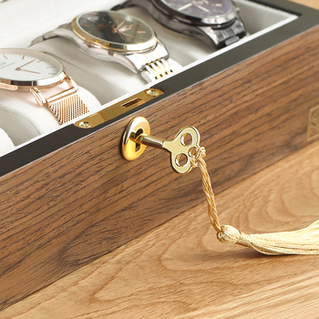 Casegrace Luxury Wooden Jewelry Box Organizer Women Large Ring Necklace Earrings Jewellery Storage Case Gift