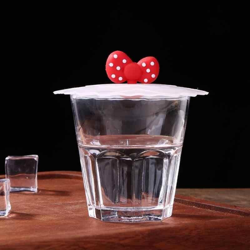 Tampa do copo de água potável bonito silicone anti-poeira tigela capa copo selos canecas de vidro tampa universal reutilizável silicone estiramento tampas