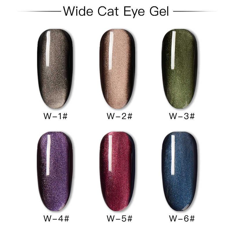 RBAN مسمار 7 مللي عيون القط UV هلام مسمار البولندية الحرباء خط واسع المغناطيسي الهجين ورنيش الطلاء لتقوم بها بنفسك Gellak المينا جورب قبالة الأشعة فوق البنفسجية هلام