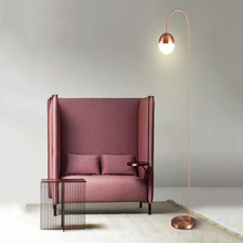 Modern Creative LED Floor Lamp 2Color Free Standing Lamps for Living Room Office Cafe Metal Tall Lampadaire