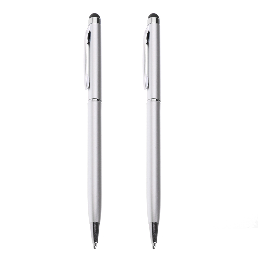 2 Pieces Capacitive Pen Touch Screen Stylus Pencil For Phone Tablet Silver