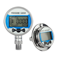 5 Digits High Precision Digital Pressure Gauge psi\/Kpa\/Bar\/kg 100mm Diameter 0-60Mpa Vacuum Battery-Powered Pressure Manometer