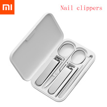 Xiaomi Mijia coupe ongles en acier inoxydable avec couverture anti éclaboussures tondeuse pédicure soins coupe ongles fichier professionnel avec boîte