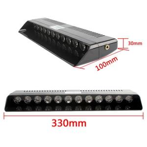 Image 3 - 1 세트 12 LED 고강도 차량 비상 위험 경고 스트로브 플래시 라이트 대시 데크 그릴 앞 유리 Led 자동차 라이트