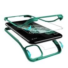 فاخر 360 غطاء حماية كاملة للهاتف آيفون XR XS Max X 11 برو ماكس طبقة مزدوجة ruggled المدمج في واقي للشاشة الزجاجية