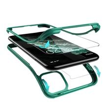 Luxus 360 Volle Schutz Telefon Abdeckung Für iPhone XR XS Max X 11 Pro Max Dual schicht ruggled Eingebaute screen protector Glas Fall