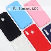 Силиконовый чехол для samsung galaxy m20 мобильный телефон мягкая