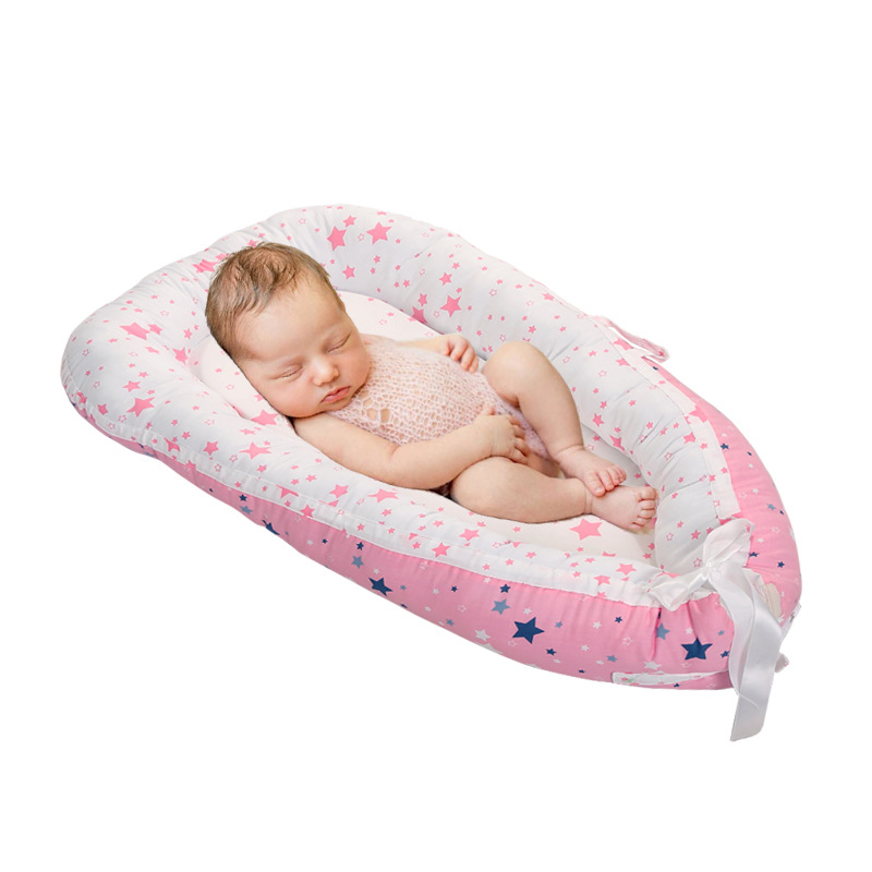 Baby Nest Bed Portable Crib Travel Bed Infant Toddler Cotton Cradle For Newborn Baby Bumper Bed Bassinet
