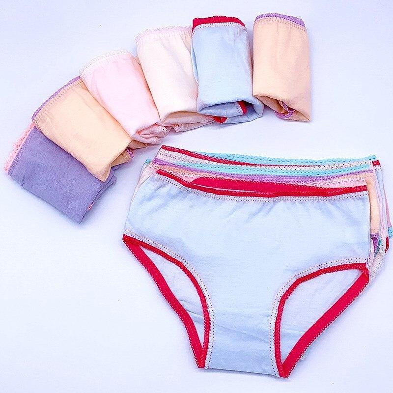 12Pc/Lot  Baby Girls Underwear Cotton Panties Kids Short Briefs Children Underpants 2-12Y 5