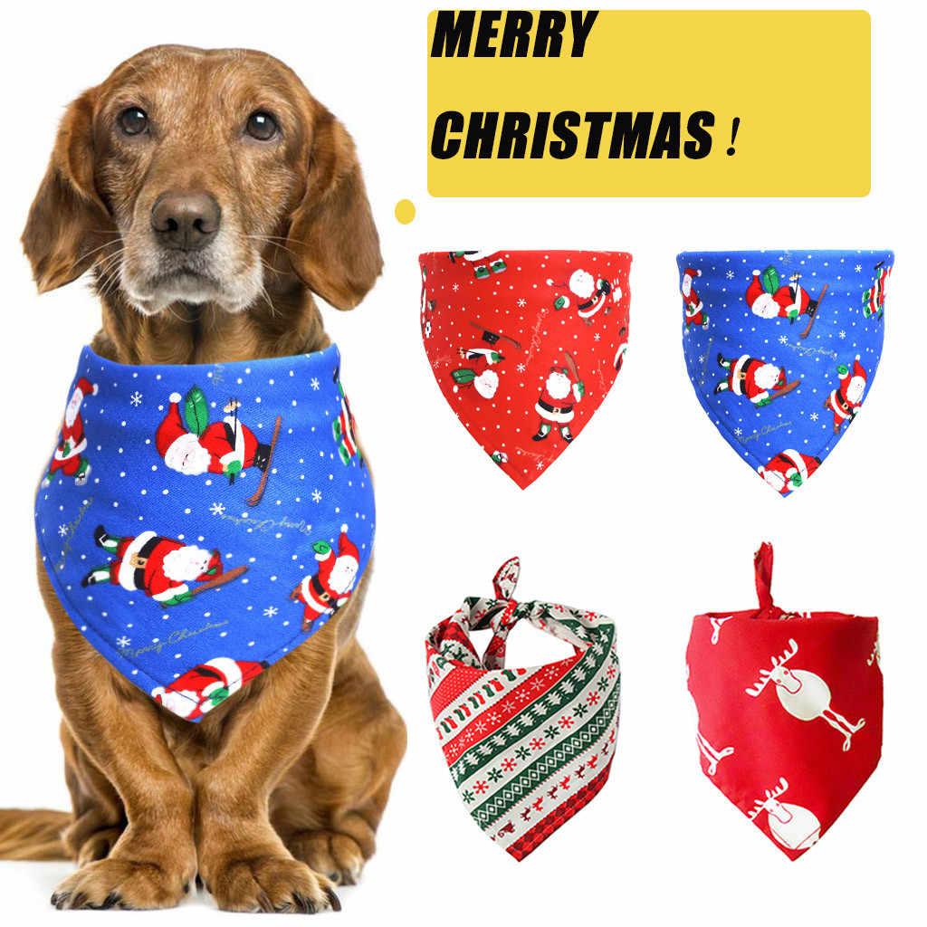2021 Merry Christmas Xmas Kawaii Pet Decoration Christmas Pet Saliva Towel Dog Scarf Cat Decoration Scarf Adornos Navidenos 9 Pendant Drop Ornaments Aliexpress