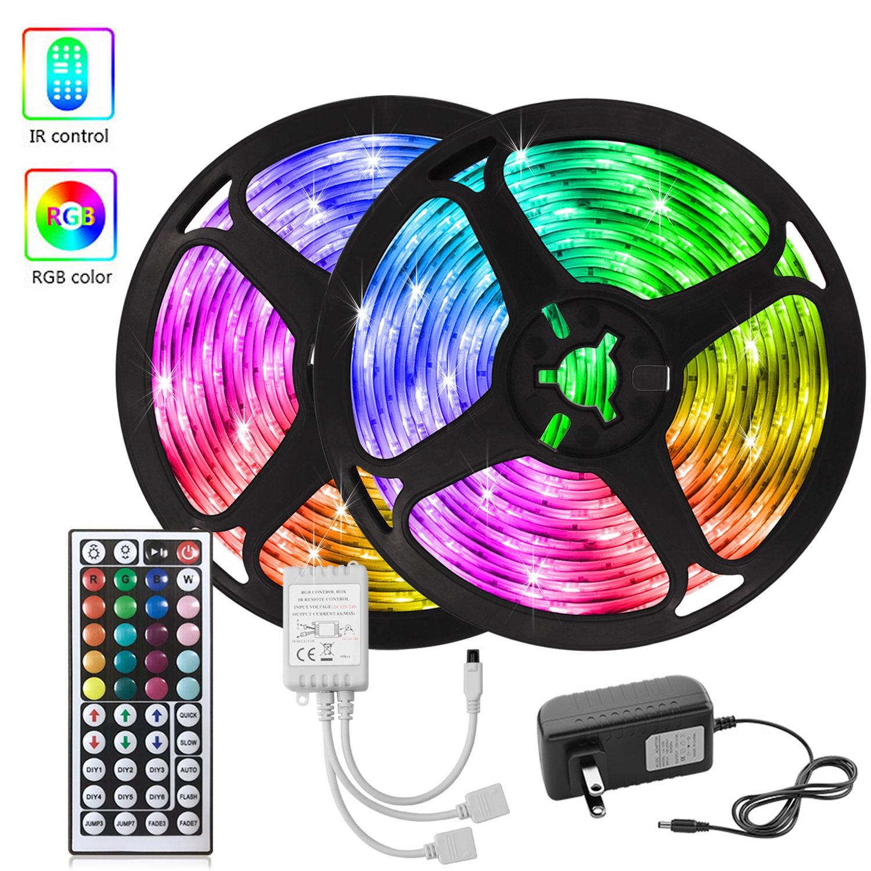 30M Led Strip Lights RGB 5050 SMD 2835 Waterproof Led Ribbon 5M 10M 15M 20M Nylon light Tape Decoration for Wall Bedroom kitchen