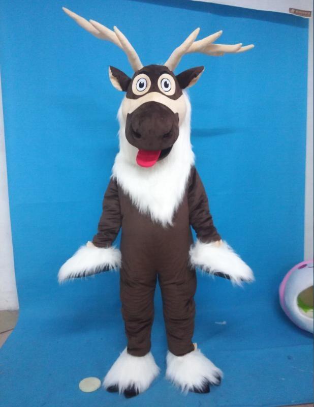 2019 Unisex Adult Deer mascot costume Sven costume reindeer mascot costume Advertising SuitsMascot   -
