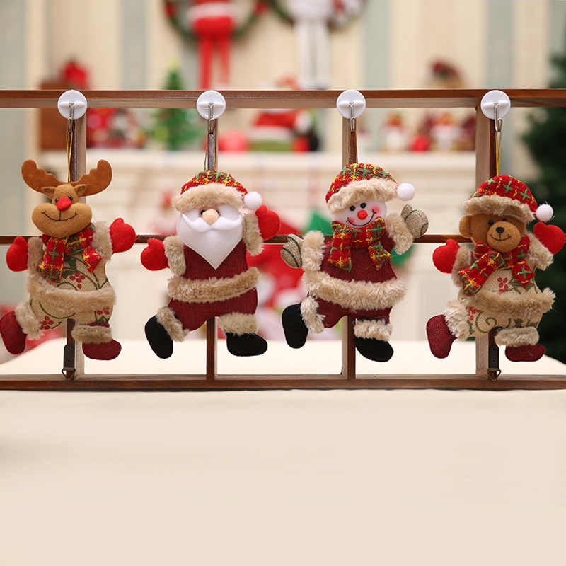 2020 ตกแต่งคริสต์มาสจี้ของเล่นภายนอก Xmas Tree แขวนเครื่องประดับ Santa Claus Snowman หมีตุ๊กตา ELK ตกแต่งบ้านเด็กของขวัญ