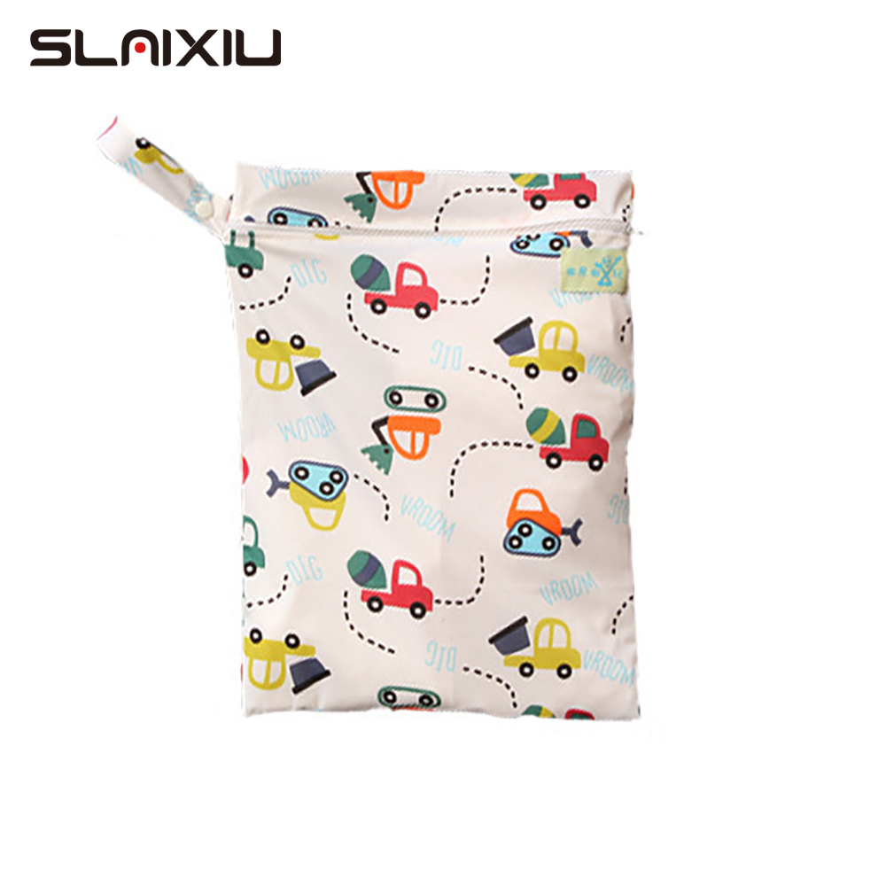 SLAIXIU Diaper Storage Bag Caddy Organizer Reusable Waterproof Fashion Prints Dry Bag Mummy Storage Bag Travel Nappy Bag