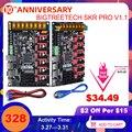 BIGTREETECH SKR PRO V1.1 плата управления 32Bit VS SKR V1.3 Ramps 1 4 части 3D принтера MKS GEN L для Ender 3/5 CR10 TMC2208 TMC2209