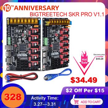 BIGTREETECH SKR PRO V1 1 płyta sterowania 32Bit #8217 s postawy polityczne w SKR V1 3 rampy 1 4 3D części drukarki mks gen L dla Ender 3 5 CR10 TMC2208 TMC2209 tanie i dobre opinie BIQU Płyta główna SKR PRO V1 1 Motherboard 32 Bit 168MHz CPU ARM Cortex-M4 STM32F407ZGT6 Only Marlin 2 0 TMC2208 UART TMC2130 SPI TMC5160 SPI