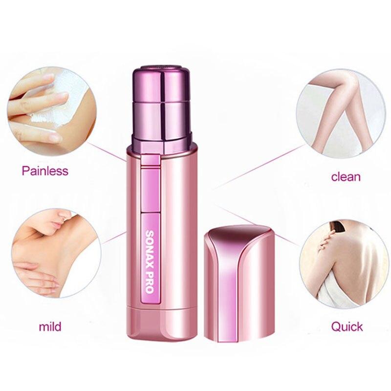 Portable Mini Electric Body Facial Hair Remover Depilator Bikini Body Face Neck Leg Hair Remover Tool Epilator Eyebrow Shaver