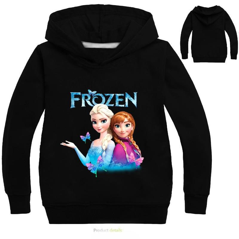 New 2021 Kids Baby Boys Girls Toddlers Frozen 2 Elsa Anna printing Hoodies Cartoon Tracksuit Children Clothing Cute Sweatshirts 3