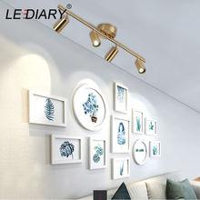 Lediary вращающаяся Золотая потолочная лампа регулируемая угловая
