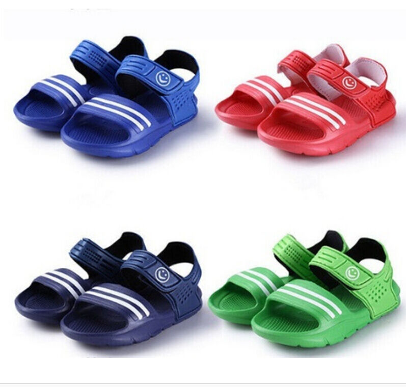 Pudcoco Kids Shoes 1Pair Casual Children Kids Shoes Baby Boy Closed Toe Summer Beach Sandals Flat Breathable Beach Slip-On Shoes