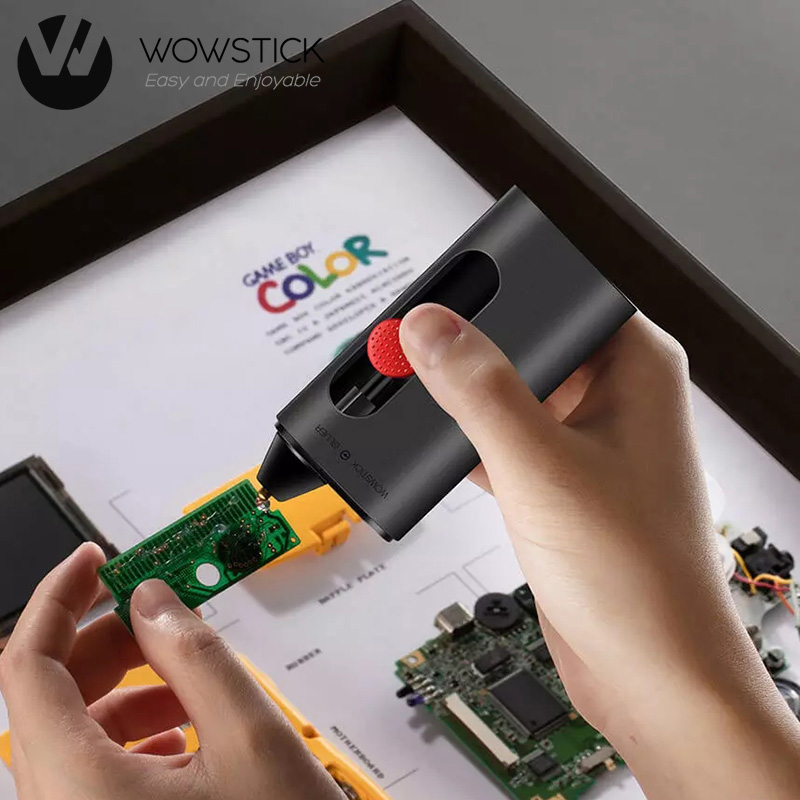 Wowstick Rechargeable Cordless Electric Hot Melt Glue Pen Kits 2000mAh for DIY Arts Crafts Projects Sealing and Quick Repairs