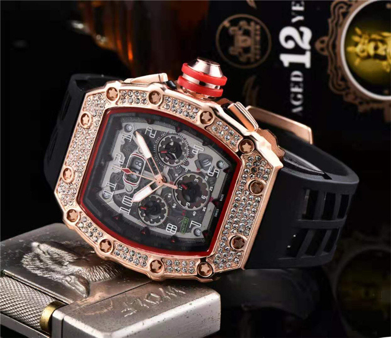 Cadeau diamant DZ digite homme montre Rlo dz Auto Date semaine affichage lumineux plongeur montres acier inoxydable poignet homme mâle horloge - 5