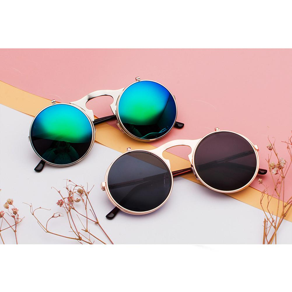 Men Women Retro-covered Sunglasses Metal Punk Style Sunscreen Glasses