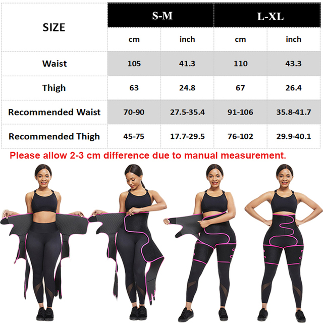 Neoprene Slim Thigh Trimmer Leg Shapers Slimming Belt Waist Trainer Sweat Shapewear Fat Burning Compress Belt 5