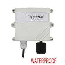Free shipping 1pc High precision on line monitoring noise sensor transmitter Rs485 modbus RTU waterproof Noise sound sensor