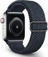 Geflochtene Solo Schleife Strap Für Apple uhr band 44mm 40mm 38mm 42mm STOFF Nylon Elastische gürtel armband iWatch 3 4 5 se 6 serie