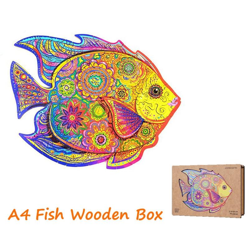 WoodenBox A4 Fish