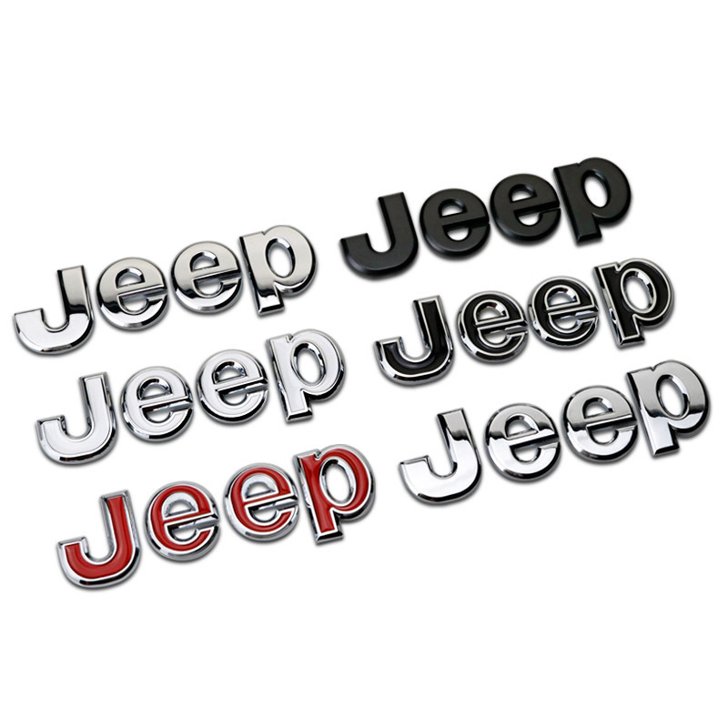 Car Metal Sticker Letter Logo Badge Car Side Fender Trunk Decorative For Jeep Wrangler Grand Cherokee Guide Free Light KnightCar