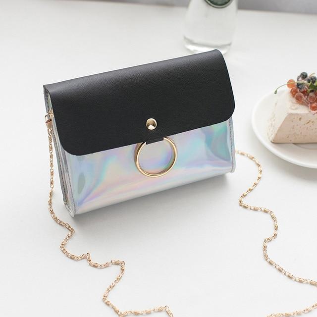 Маленькие сумки для женщин сумки-мессенджеры кожаные женские Newarrive милые сумки через плечо винтажные кожаные сумки Bolsa Feminina - Цвет: Chain-Black