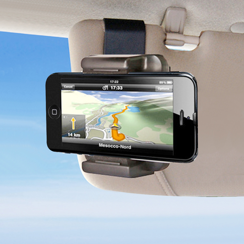 Car Sun Visor Phone Holder Stand Universal Car Clip Sun Visor Cell Phone Holder Mount For Iphone X GPS Holder In Car Mobile Clip