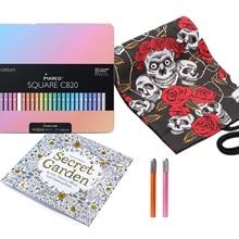 Marco Pastel SQUARE Pen Rod Colored Pencils Macarons Box 12/24/48 Colors Set Professional Art Supplies