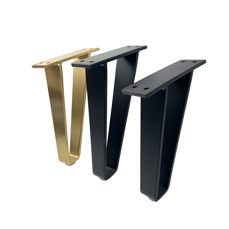 2Pcs/set U-shaped Metal Furniture Leg Table Leg Bracket Protection Pad Support Leg For Sofa Leg Furniture Cabinet Chair Feet
